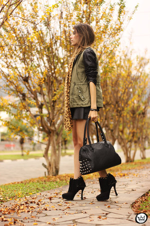 black Renner jacket - army green Renner vest - black Renner skirt