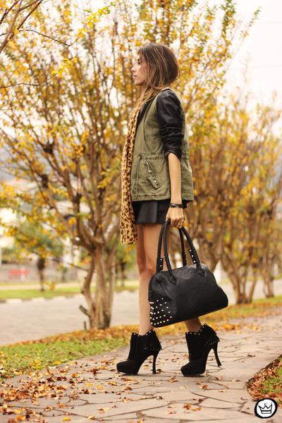 black Renner jacket - army green Renner vest - black Renner skirt