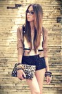 Light-brown-brech-da-neide-blazer-black-sequins-marisa-shorts