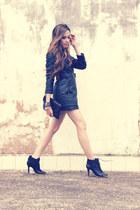 leather romwe coat