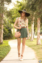bronze Amaro bag - teal Displicent skirt - cream Amaro top