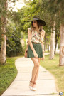 Bronze-amaro-bag-teal-displicent-skirt-cream-amaro-top