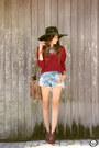 Brown-blackfive-bag-sky-blue-macstile-shorts-ruby-red-renner-jumper