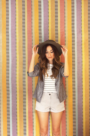 silver Gap blazer - silver Gap shorts - white Gap t-shirt