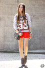 Charcoal-gray-lillys-closet-boots-red-dafiti-skirt-silver-ohkei-jumper