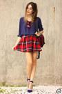 Ruby-red-petit-sesame-bag-ruby-red-nastygal-sunglasses-ruby-red-romwe-skirt
