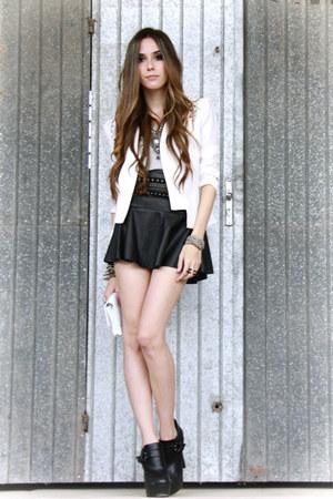 black Lokanda skirt - ivory romwe blazer