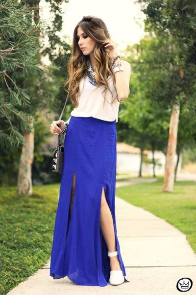 blue style moca skirt