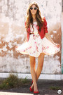White-amelie-allure-dress-ruby-red-modaki-jacket