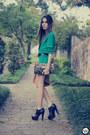 Turquoise-blue-espao-1098-dress-black-asos-heels