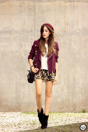 maroon Dafiti jacket - mustard Dafiti skirt