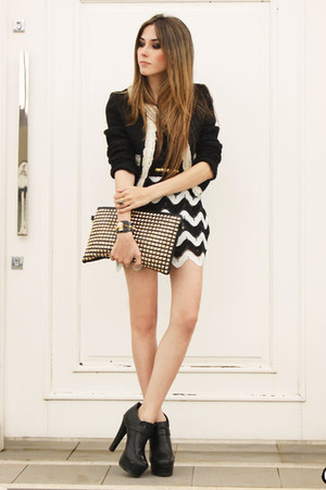 black Xiquita Bakana skirt - black Brech da Neide coat