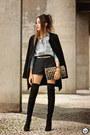Black-lez-a-lez-coat-light-blue-levis-shirt-black-lez-a-lez-shorts