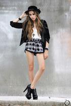 black fringe Zara bag - ivory Labellamafia shirt