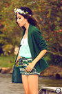 Green-mary-must-shorts