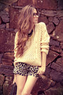 Black-espao-1098-shorts-light-yellow-yesi-jumper