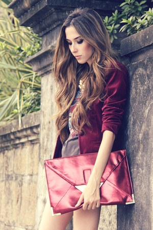 asoscom bag - velvet Renner blazer - Gabriela Faraco necklace