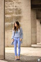 light blue Tomtop coat - light blue Gap pants - light blue Gap jumper