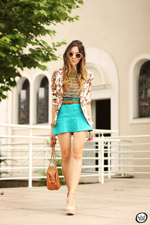 light blue la vie en rose skirt - orange Mr Gugu & Miss Go t-shirt