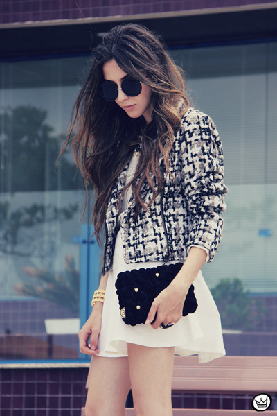 black Of-ficium jacket - black Bruna Starling bag - white Of-ficium skirt