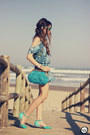 Turquoise-blue-displicent-dress