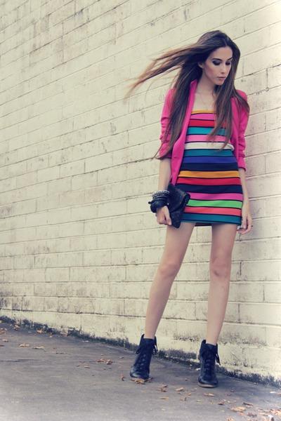 bubble gum Espao 1098 dress - hot pink Renner blazer