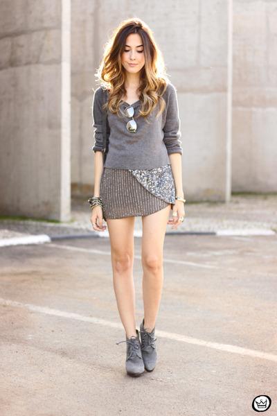 heather gray Lez a Lez jumper - heather gray Lez a Lez skirt
