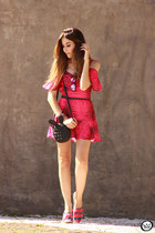 hot pink Displicent dress