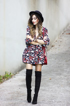 maroon farfetch dress