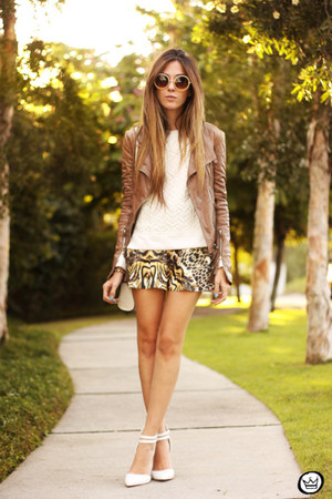 camel Displicent skirt
