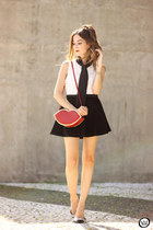red Dafiti bag - black Dafiti skirt - white Dafiti top