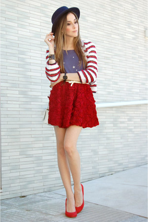 Chicwish skirt - Wildfox t-shirt - romwe cardigan