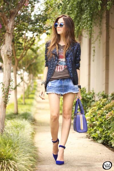 light blue MacStile skirt