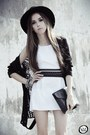 Black-chicwish-cardigan-white-sks-dress-black-asos-heels