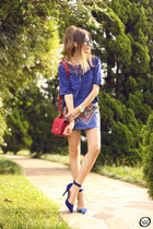 blue Lez a Lez skirt - red Dafiti bag - blue Lez a Lez top