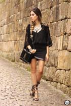 black Doce Trama skirt
