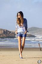 blue My Philosophy shorts