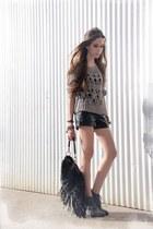 black Makenji shorts - silver Topshop jumper