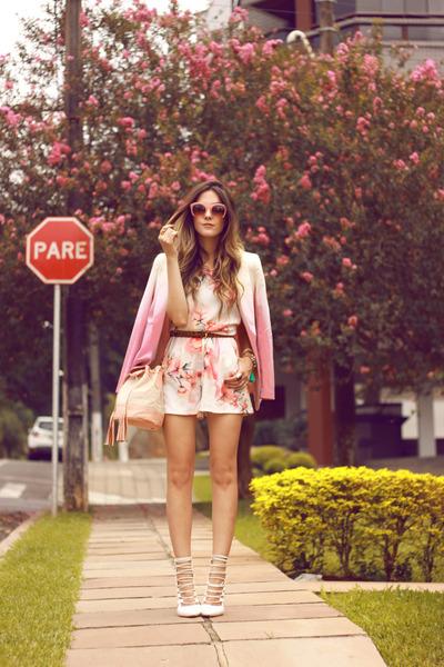 bubble gum Pink Flowers dress