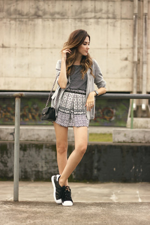 charcoal gray Slywear top - charcoal gray Slywear skirt
