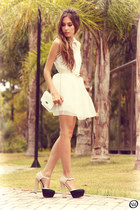 white romwe dress - black asos shoes