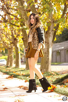 black romwe coat - bronze zeroUV sunglasses - light yellow Gap jumper