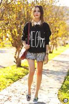 black Ethus jumper - black Front Row Shop skirt