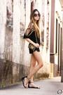 Black-chamelle-shorts-black-douglas-harris-top