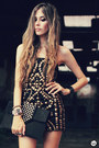 Beaded-chi-chi-dress-spikes-kafé-bracelet-asos-heels