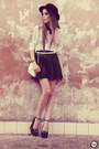 White-awwdore-shirt-black-goodnight-macaroon-skirt-black-choies-wedges