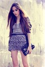 Black-renner-blazer-heather-gray-h-m-skirt-white-hering-top