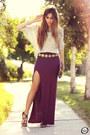 Maroon-goodnight-macaroon-skirt-periwinkle-antix-jumper