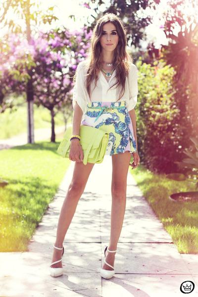 aquamarine Xiquita Bakana skirt - white Labellamafia shirt - white asos heels