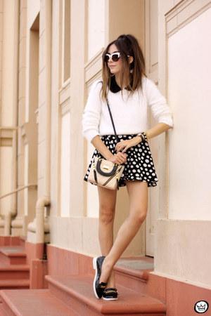 black Slywear skirt - white iclothing jumper